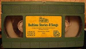 Sesame Street Bedtime Stories & (and) Songs Vhs RARE HTF OOP