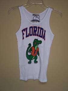 NWT University Florida Gators WHITE Tank Top Shirt OSFA
