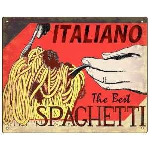 Spaghetti Pasta Sign Italian Restaurant deli diner retro vintge wall