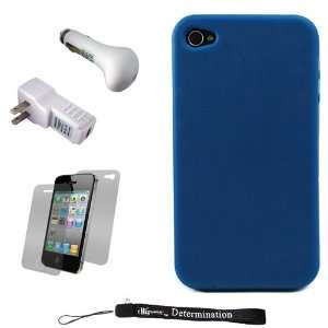 Smooth Durable Protective Silicone Skin Cover Case for Apple iPhone 4
