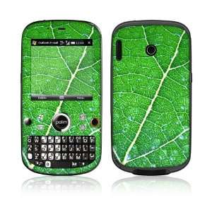 Palm Treo Plus Skin Decal Sticker  Green Leaf Texture