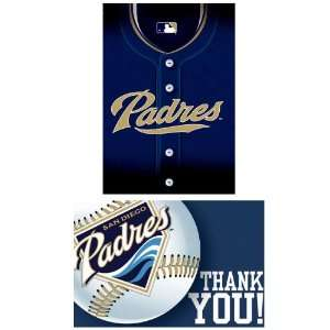 San Diego Padres Baseball   Invite & Thank You Combo