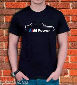 Mens BMW M Power Logo T shirt E34 M3 M5 All sz S XXL
