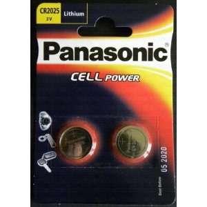 Batteries) Panasonic Cr2025 Lithium Coin Cell Battery 3V Blister