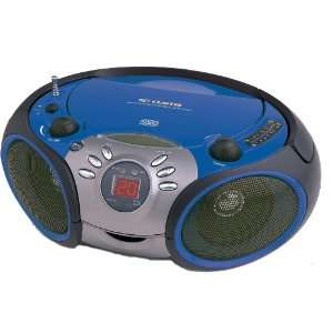 com Curtis RCD668 Portable CD Radio (Blue) MP3 Players & Accessories