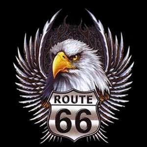besondere t shirts mit motiven aus den usa route 66 eagle head wings