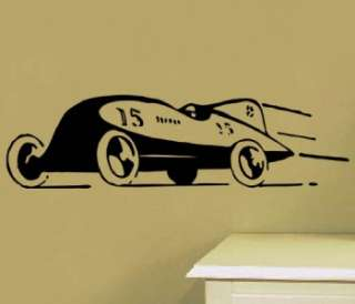 Vinyl Wall Art Decal Vintage Race Car Toon Sticker