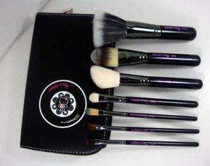 Fashion Hello Kitty Makeup Brush Set + Faux Leather Case 7PC