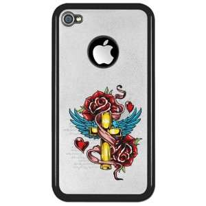 Clear Case Black Roses Cross Hearts And Angel Wings