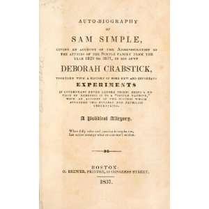 Auto Biography Of Sam Simple: Books
