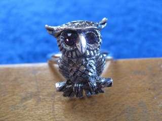 SARAH COVENTRY OWL RING PURPLE RHINESTONE EYES