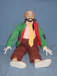 Emmett Kelly Jr. Sad Clown Musical 21 Porcelain Doll Victoria 1984