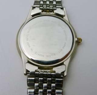 Mens Bulova Quartz T8 two tone Stainless Steel watch