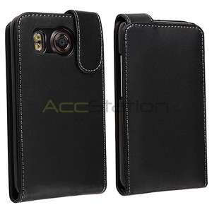For AT&T HTC Inspire 4G Black Leather Pouch Case Cover