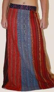 Hippie Boho Patchwork Fairy Bohemian Long Skirt Fair Trade Hand Woven