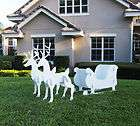 Christmas Outdoor Santa Sleigh Yard Art Sled