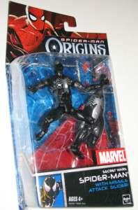 SPIDERMAN Origins Marvel Legends BLACK Figure War VENOM