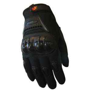 Street Bike Full Finger Motorcycle Gloves 09 X4 black