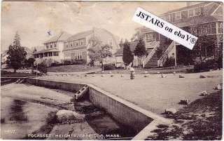 1936 POCASSET, MA, HEIGHTS HOUSES, CAPE COD POSTCARD