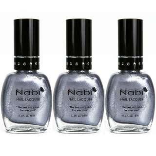 Nabi Silver Metallic Candy Lacquer Nail Polish