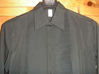 Couture VERSACE GOLD label most expensive label Tux Style shirt 52/L