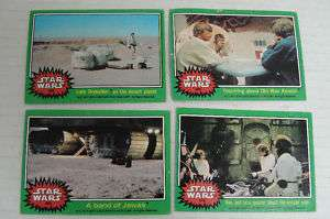 STAR WARS 4   COLLECTOR CARDS  1977