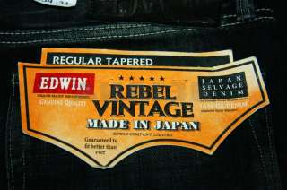 Vintage Selvage Denim Made In Japan Black Heavy Wash jeans $338 W34
