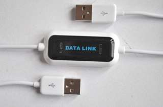 High Speed USB PC To PC Online Data Sync Link Net File Transfer Cable