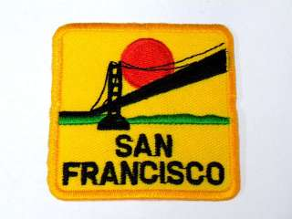 SANFRANCISCO BRIDGE YELLOW IRON ON PATCH EMBROIDER I156