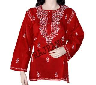 Lot Of 5 Womens Multi Color Embroidered Kurta Boho t Shirts Top Blouse