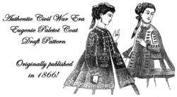 Jacket Pattern Civil War Victorian Paletot Coat 1867