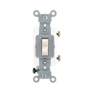 Leviton 15/20 Amp Light Almond Industrial Toggle Switch R56 01221 20T