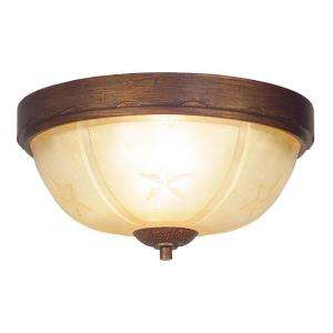 Hampton Bay Lone Star Collection 2 Light Flush Mount Desert Sands