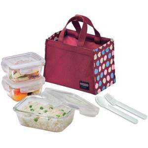 Lock and Lock Glass Lunch Box Set Wine LLG414SW