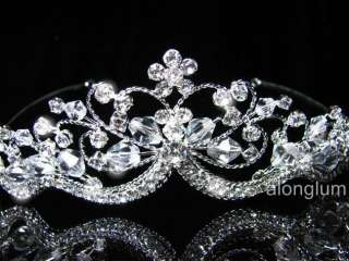 A337 Wedding Bridal Bridesmaid Prom Flower Swarovski Crystal