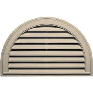 In. Half Round Gable Vent #049 Almond 120023422049 at The Home Depot