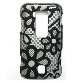 Huawei Ascend M860 Black Lace Hard Phone Case Cover New
