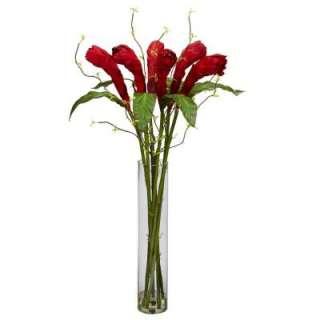 with Cylinder Vase Silk Flower Arrangement 1242