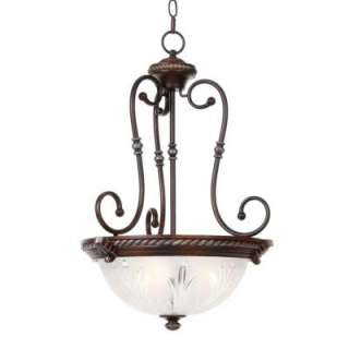 Hampton BayBercello Estates Collection 3 Light Volterra Bronze Pendant