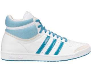 Adidas Top Ten HI Sleek   Weiß Leder Damen Sneaker Schuhe: