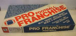 1987 The Pro Franchise Football Board Card Game by RW