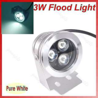 Power LED Waterproof Floodlight Flood Light Pure White 12V Lamp