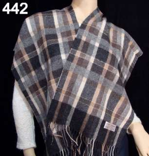 Fashion Color womens 2ply king soft Cashmere wool Scarf Shawl brown