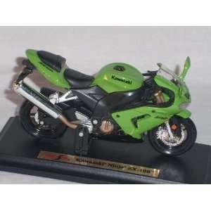 KAWASAKI NINJA ZX 10R GRÜN 1/18 MAISTO MODELLMOTORRAD MODELL MOTORRAD
