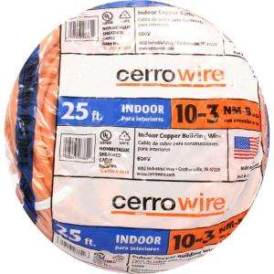Cerrowire 25 ft. 10/3 NM B Wire 147 1803AR at The Home Depot