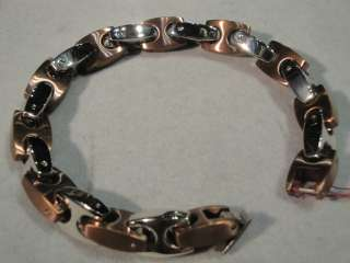 INOX MEN STAINLESS STEEL COPPER LINK BRACELET