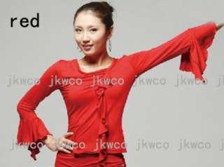 woman latin salsa tango ballroom dance dress top long sleeve dance