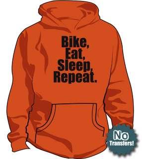 Bike Eat Sleep Bicycle Cycling Racing New Funny Hoodie