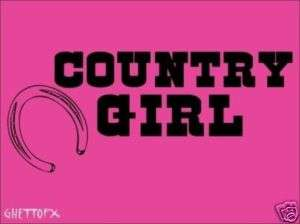 Country Girl Decal Vinyl Lettering Wall Word Quotes