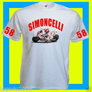 MOTO GP MARCO SIMONCELLI ROSSI T SHIRT ALL SIZES COLOURS AVAILABLE